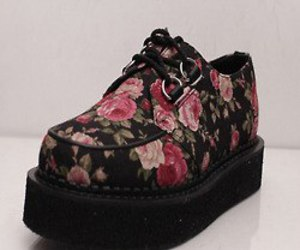 creepers, shoes, and flowers image