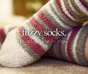 socks, fuzzy, and winter image
