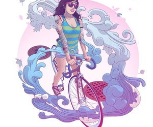 bike and girl image