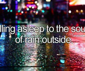 quote, rain, and sleep image