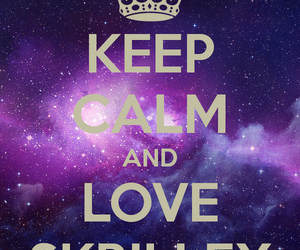 love, galaxy, and skrillex image