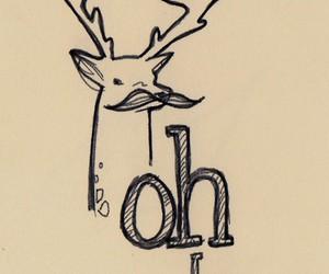 deer, mustache, and moustache image
