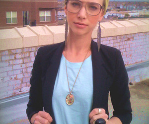 blonde, hair, and glasses image