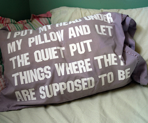 pillow, quiet, and bed image