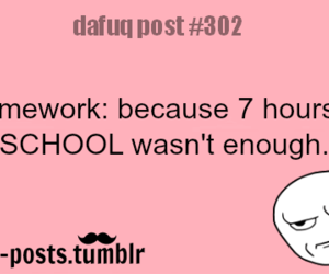 school, homework, and quote image