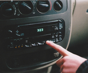 car, vintage, and radio image