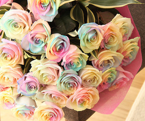 bouquet, flower, and pastel image