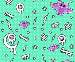 bats, pastel goth, and kawaii grunge image