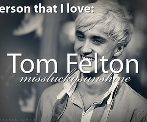 actor, smile, and tom felton image