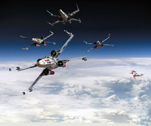 clouds, sci-fi, and star wars image