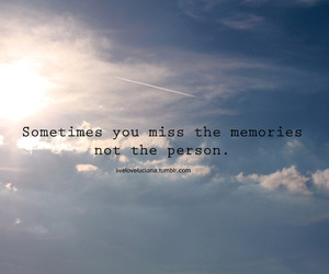 memories, person, and text image