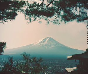 mountains, japan, and nature image