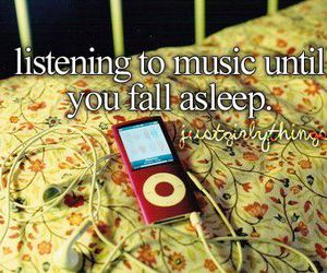 music, sleep, and ipod image