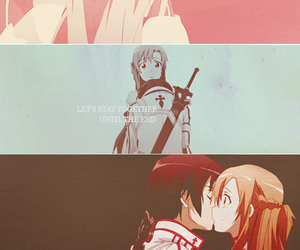 anime, kiss, and sao image