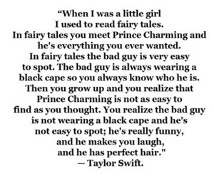 Taylor Swift, quote, and prince charming image