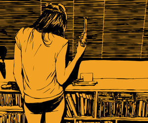 drawing, orange, and panties image