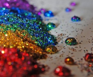 glitter, rainbow, and sparkle image