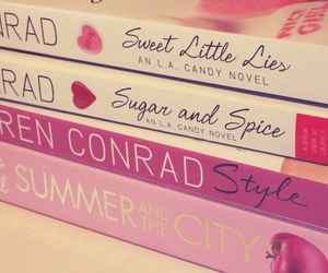 book, pink, and lauren conrad image