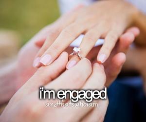 engaged, wedding, and engagement image