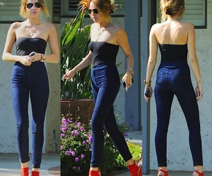 miley cyrus, miley, and red image