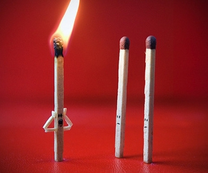 fire, match, and funny image