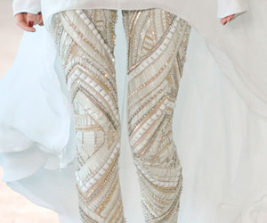 fashion, white, and leggings image