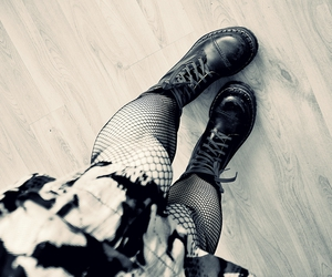 black, boots, and martens image