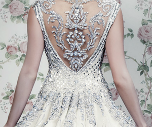 fashion, haute couture, and wedding image
