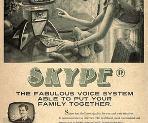 skype, vintage, and retro image