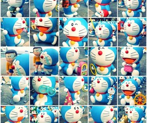 cartoon, doraemon, and photography image