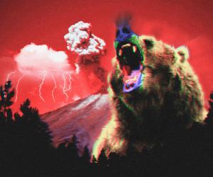 acid, art, and bear image