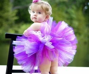 baby, purple, and sweet image