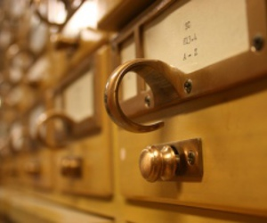 library and card catalog image