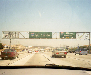 los angeles, car, and road image