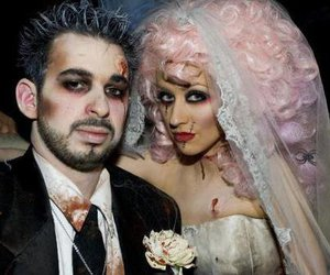 christina aguilera, Halloween, and zombie bride image