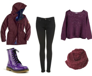 clothes, jeans, and combat boots image