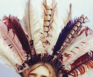 feather, girl, and indian image