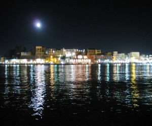crete, sea, and city image