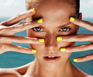 nails, model, and summer image