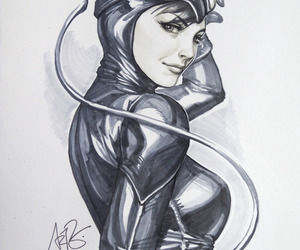 catwoman, comic, and batman image