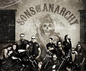 Charlie Hunnam, harley, and sons of anarchy image