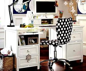 desk, domino, and interior design image