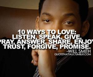 love, quote, and will smith image
