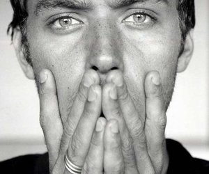 jude law, black and white, and sexy image