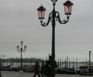 fog, lamp, and pink image