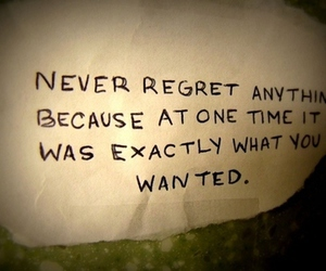 quote, regret, and text image