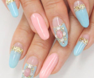 girls, kawaii, and nail art image