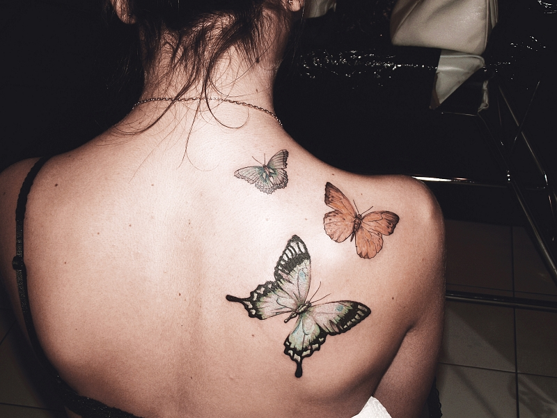 69533b445a07c butterfly, tattoos, picture, women, design, back   Inspirational ...