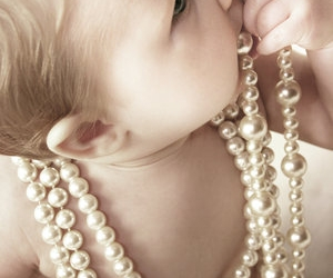 baby, pearls, and cute image