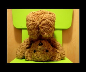 bear, chair, and green image